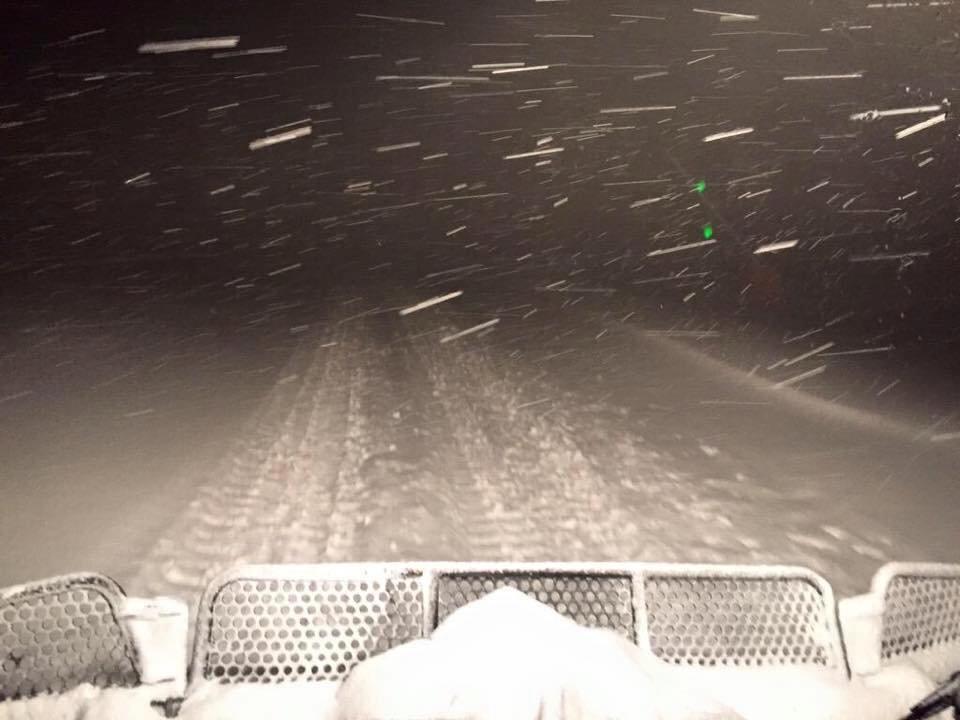 In der Nacht zum 4.1.2016 schneite es vor allem in den Westalpen, wie hier in Alpe d´Huez (FRA) - ©Facebook Alpe d´Huez