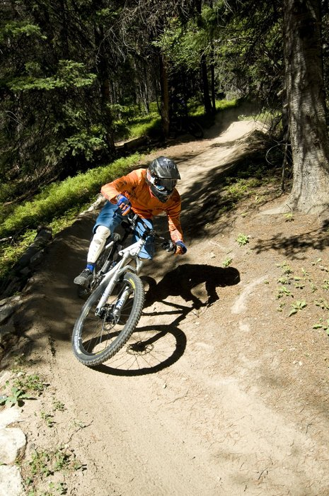 A mountain biker at Winter Park, CO.