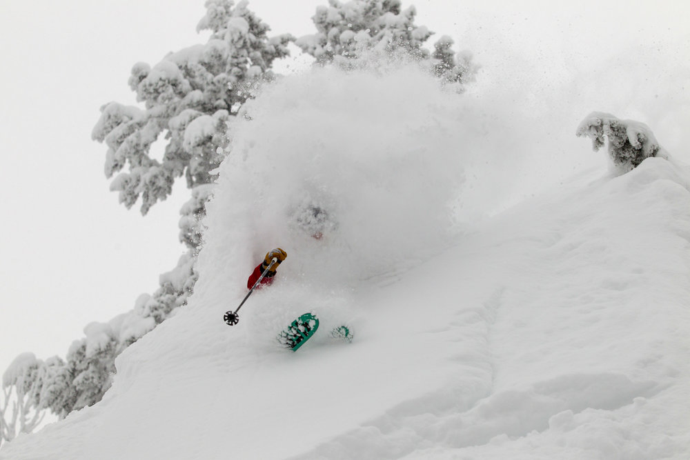 Getting face shots at Grand Targhee. - ©Grand Targhee Resort