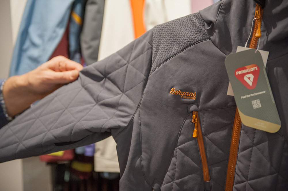 Bergans' Kongsberg Insulated Jacket is an insulated soft shell that uses bluesign-approved fabrics and insulation. - ©Ashleigh Miller Photography