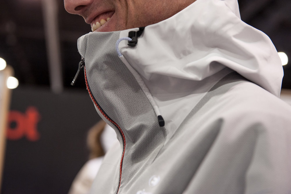 We're loving the tangible tech story from Eider this season with its Fix a Shape Zipper, an ergonomic design that protects your face without smothering or restricting chin and head movement. Talk about a