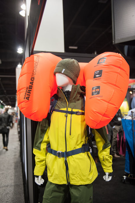 Mammut introduces what's said to be one of the lightest airbag packs ever offered to skiers and riders, weighing in at 4 lbs., 3 oz. - ©Ashleigh Miller Photography