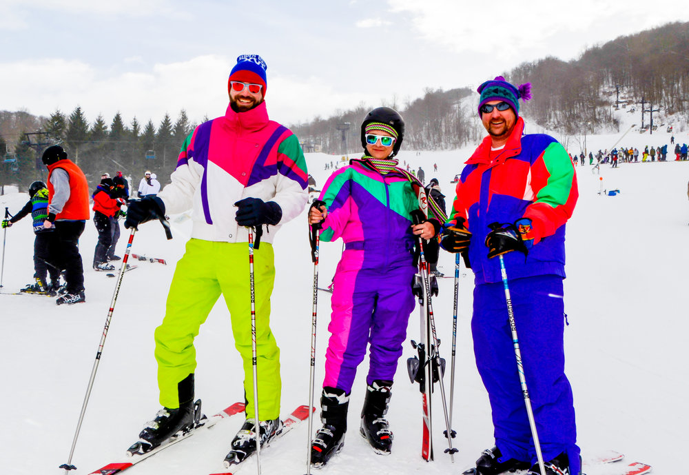Skiers go retro 80s-style at Beech Mountain - ©Beech Mountain Resort