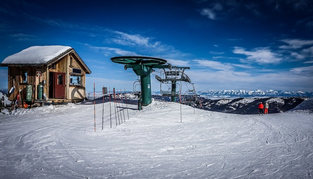 The view from Bridger Bowl's mid-mountain lift makes getting back down even harder. - ©Eric Slayman