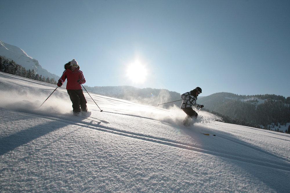 Skiers at Megeve, FRA.