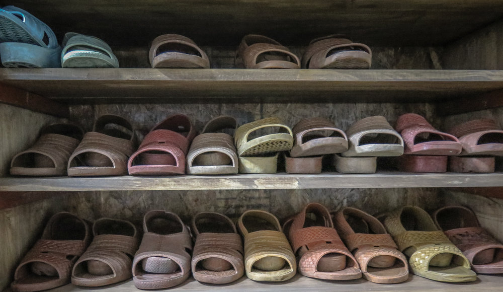 Slippers are common and customary in Japan. - ©Linda Guerrette