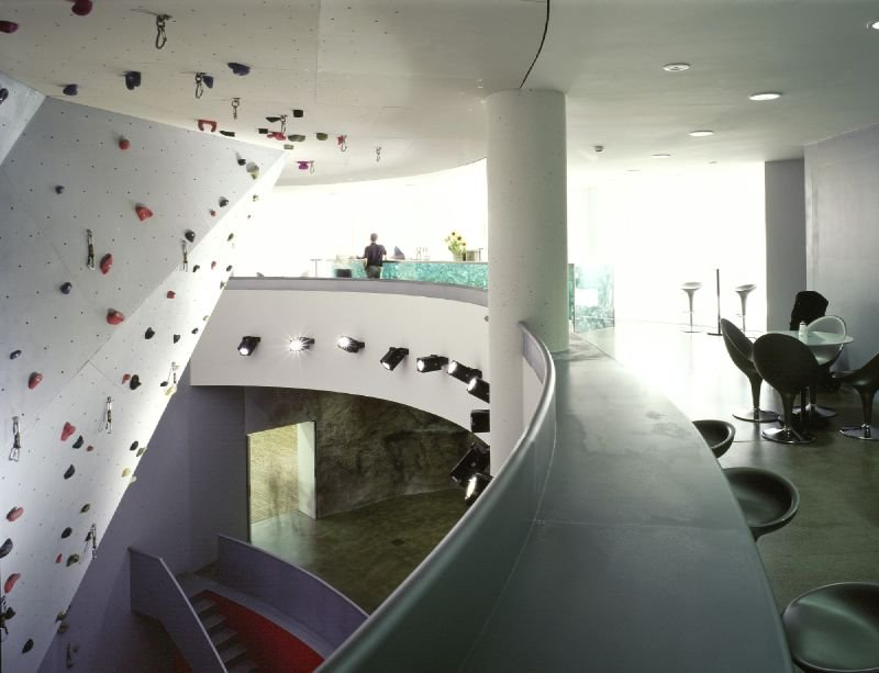 Indoor climbing wall in Galtur