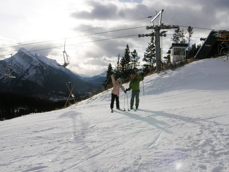Opening day at Mt. Norquay Oct 31 2009