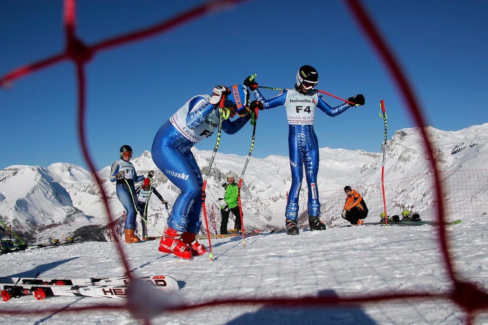 Racers ready to go at Crans Montana, SUI.