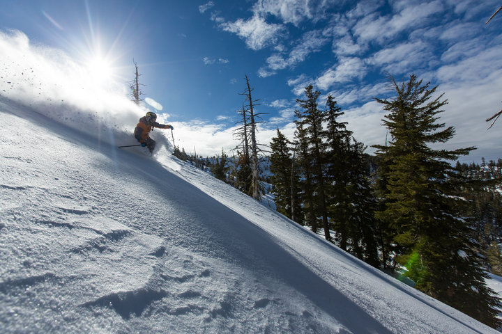 Sun and powder at Sierra-at-Tahoe, California. - ©Sierra-at-Tahoe