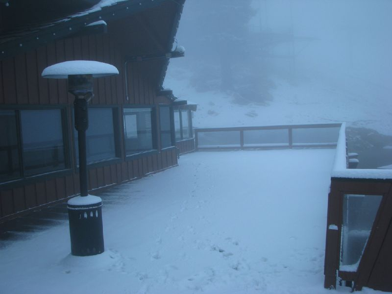 Heavenly Mountain Resort in South Lake tahoe, California is hit by a snowstorm