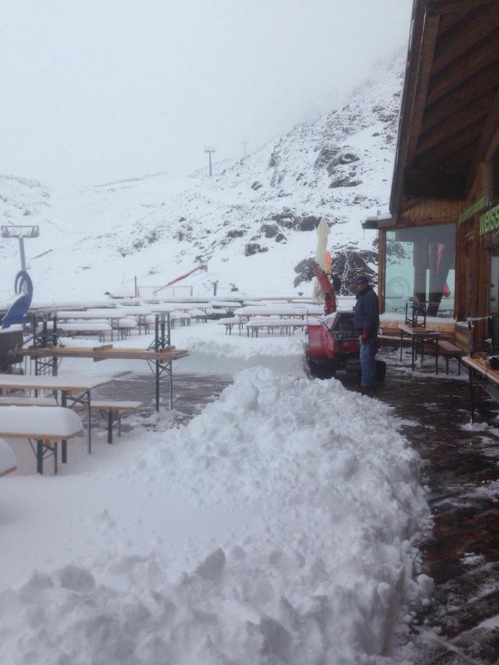 Schnee auch am Kaunertaler Gletscher - ©Kaunertaler Gletscher