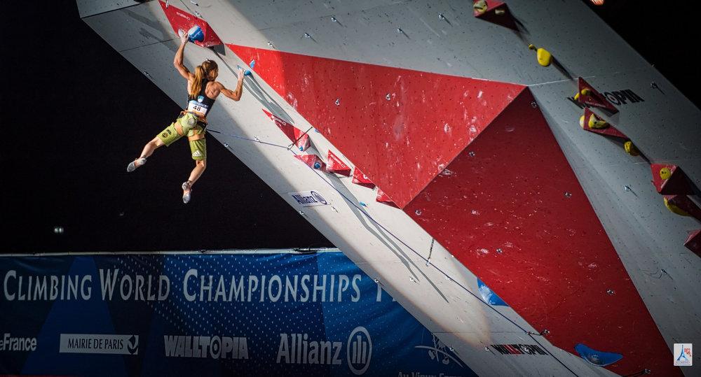 Mina Markovic (SLO) schnappte sich Bronze im Lead - ©FFME / Agence Kros - Remi Fabregue