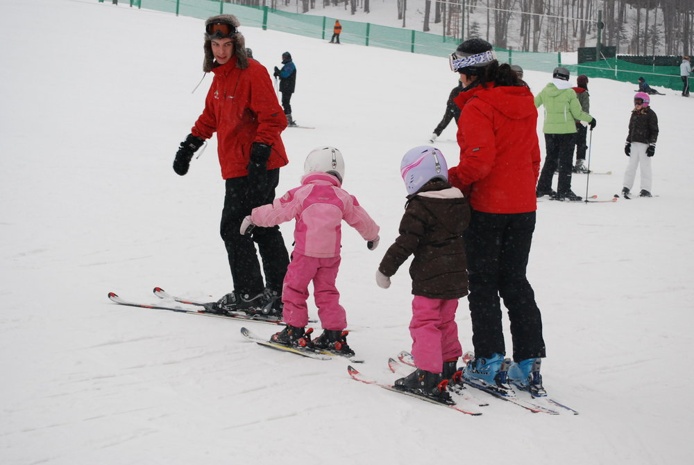 Children with instructor at Treetops Resort MI