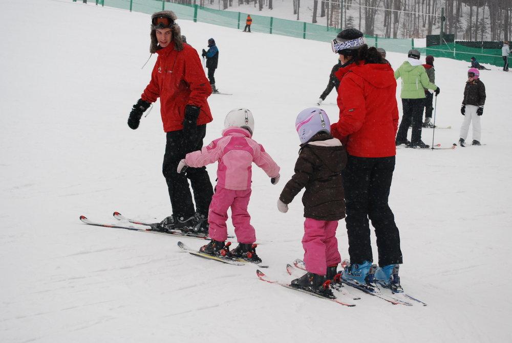 Children with instructor at Treetops Resort MI