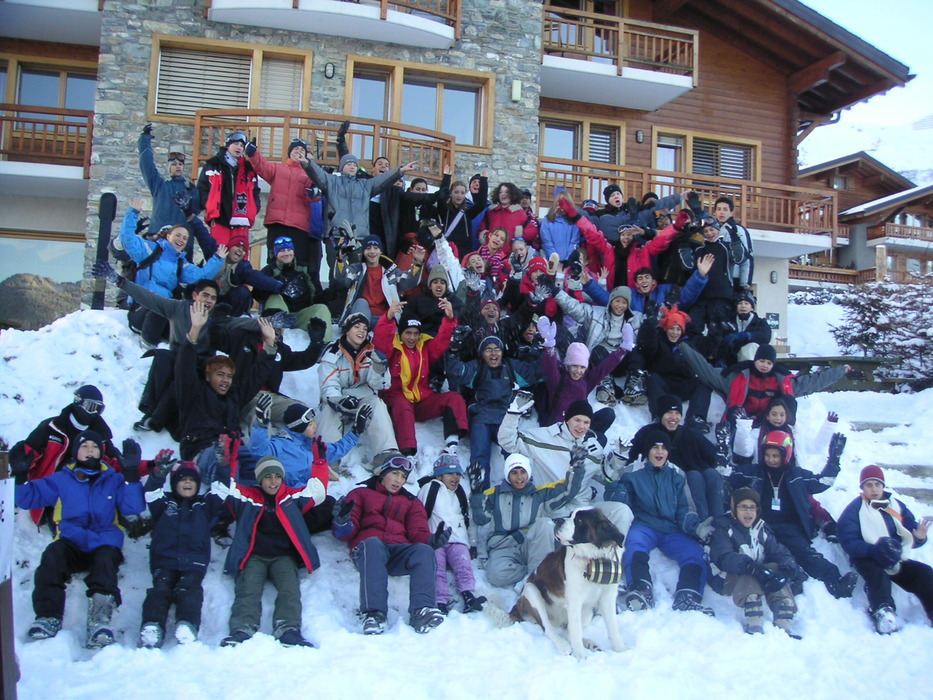 Kids at Les Elfes winter camp, Verbier, Switzerland.