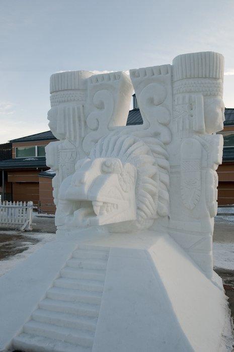 Snow Sculpture at Breckenridge: 3rd Team Mexico - The Altar of Quetzalcoatl
