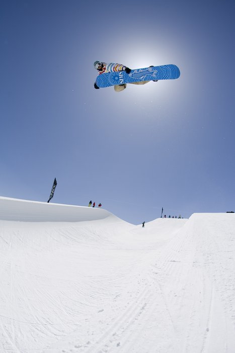 Steve Fisher in the pipe at Breckenridge. Image by Aaron Dodds