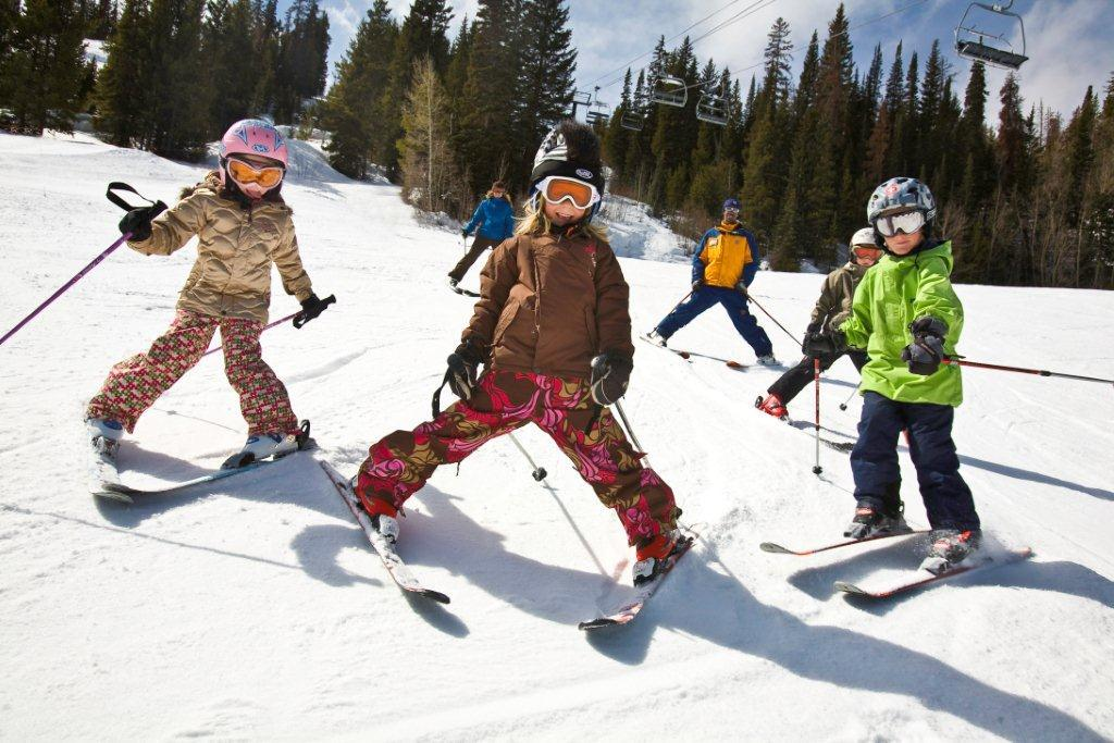 Young skiers at Winter Park, CO.