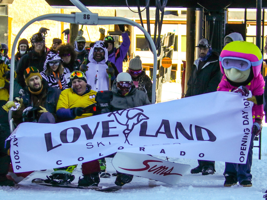 A welcome sight at Loveland Ski Area. - ©Casey Day