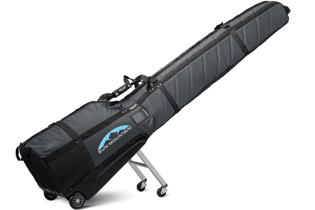 Sun Mountain SkiGlider: $299.99 For those ski trips when rentals/demos just won't do, this bag hauls two pairs of skis, boots and poles with a little leftover for a helmet and a layer or two. Available in two color options and fits skis up to 190 cm, the legs system supports all the bag's weight.