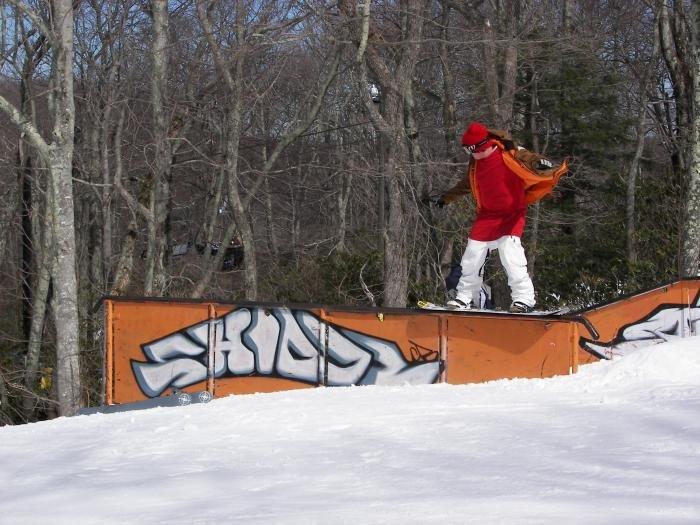 Snowboarder at Appalachian Mtn, NC