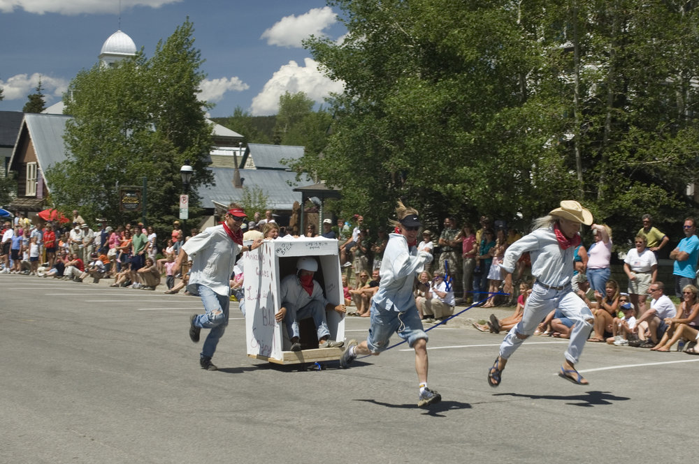Outhouse Racers at Breckenridge Kingdom Days - Carl Scofield