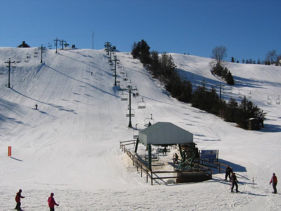 The slopes at Mt Kato, MN.