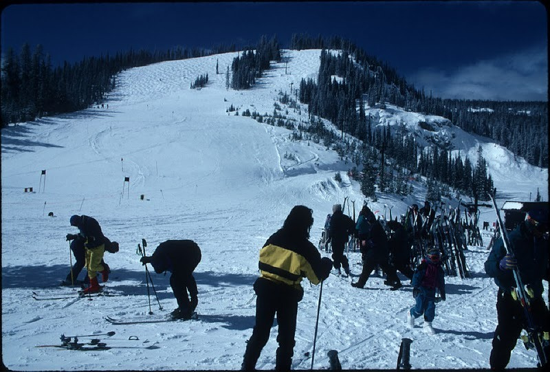 Group of skiers at Lost Trail, Montana.