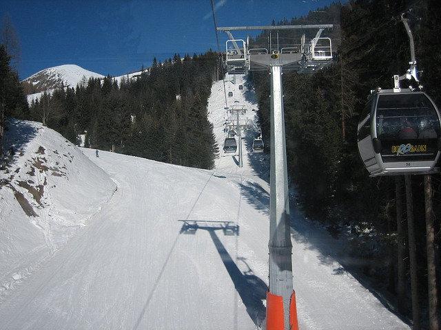 Gondolas at Meransen, Italy