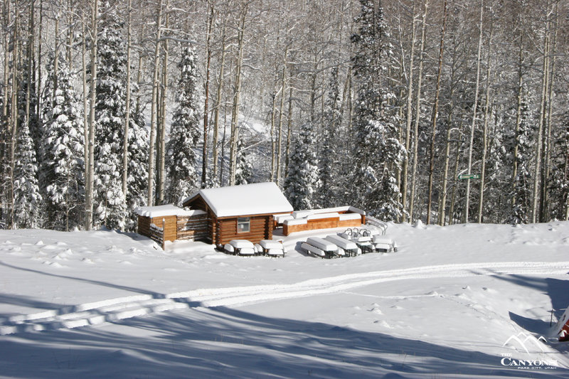 A view of a cabin at The Canyons, Utah