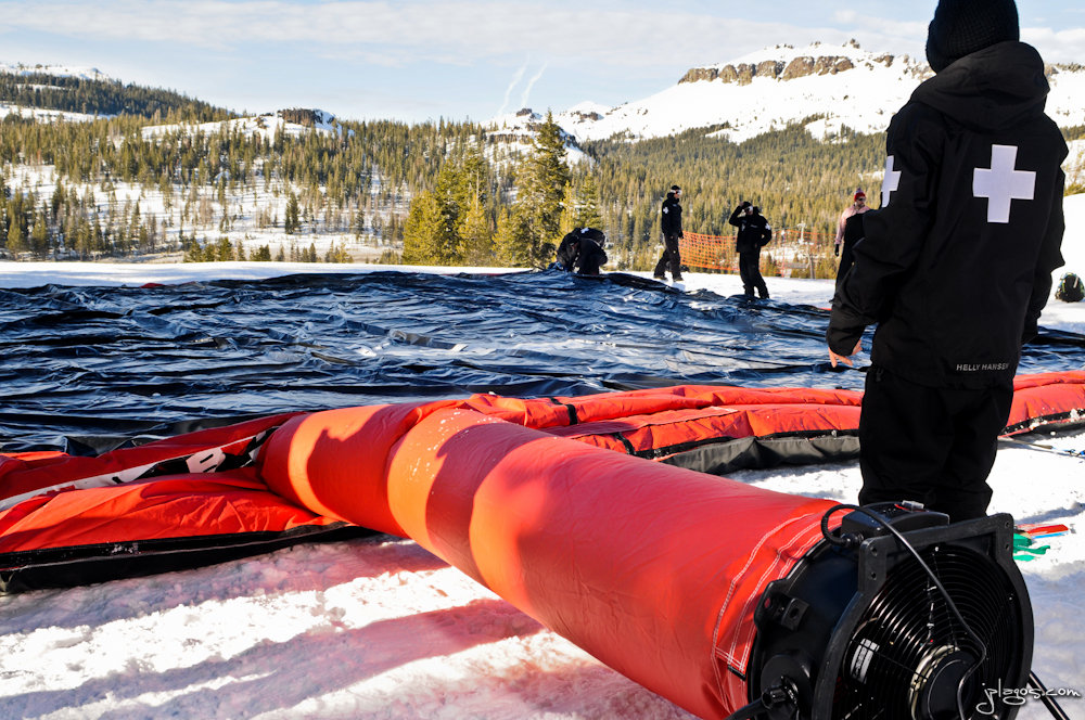 Inflating the BagJump at Boreal.