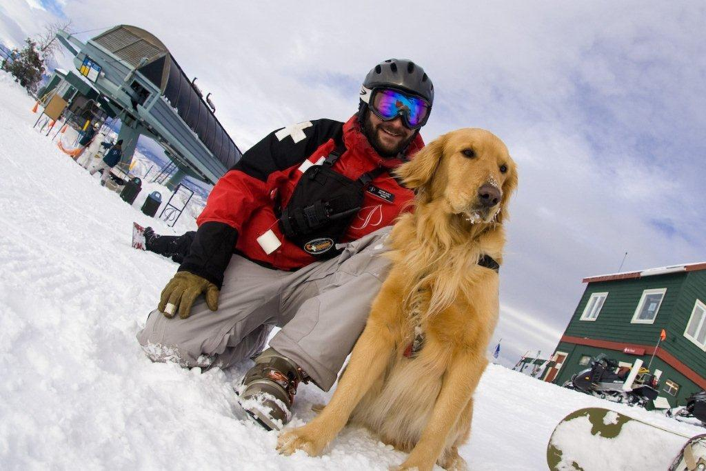 Avalanche dogs are part of the snow patrol crew at Aspen Snowmass.