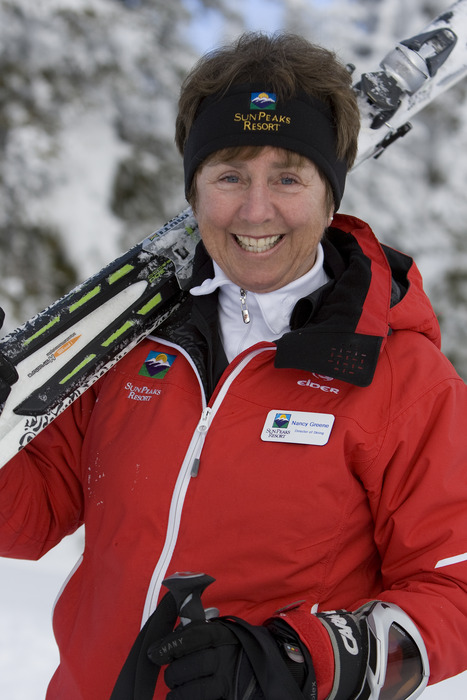 Canadian Olympian and twice World Cup Overall Champion Nancy Greene Raine Sun Peaks ResortPhoto: Paul Morrison