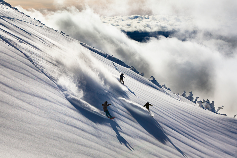 Mt. Bachelor's upper chairs access open powder-filled bowls. Photo by Tyler Roemer.