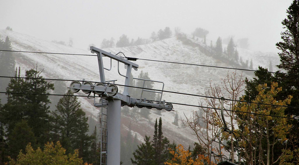 September 25th Snowfall, Canyons Resort, Utah