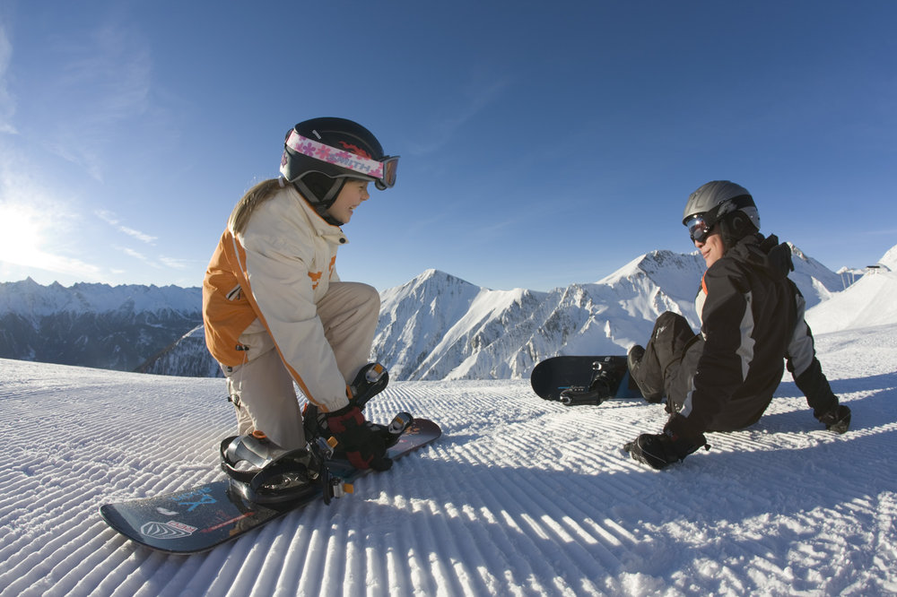 Snowboarding for kids in Fiss