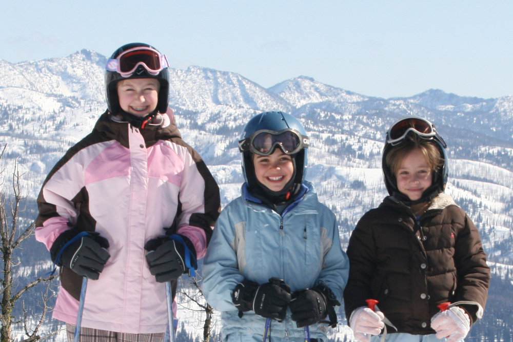 Fifth and sixth graders ski Brundage for free with Ski Idaho Passports. Photo courtesy of Ski Idaho.