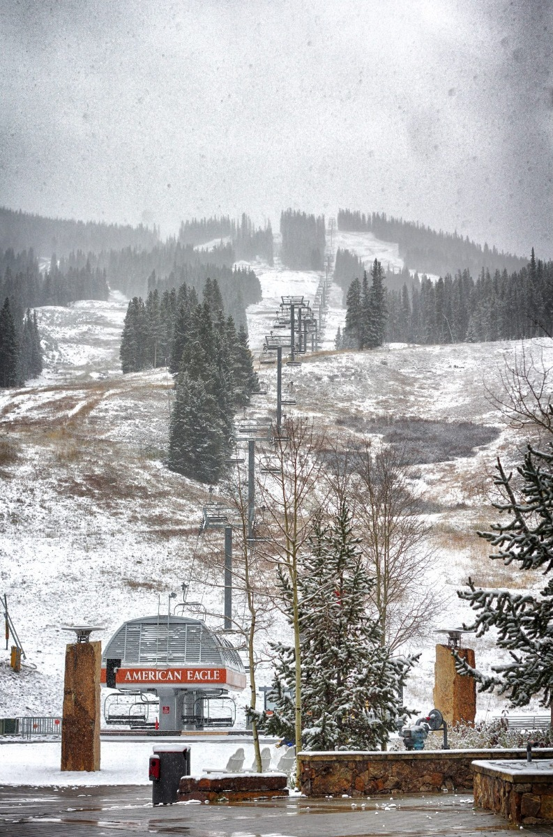Snow above the American Eagle lift at Copper. - ©Copper Mountain/Facebook