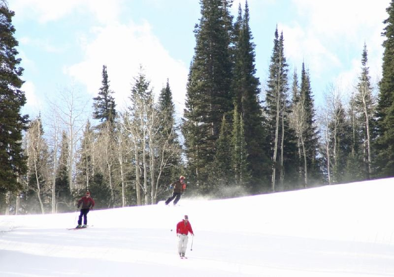 Skiing at Solitude Mountain Resort, Utah