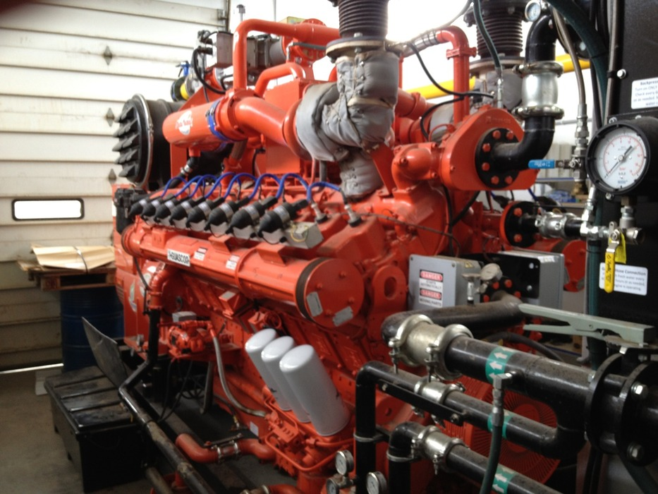 Blue Spruce Farms Engine. Photo courtesy of Green Mountain Power.