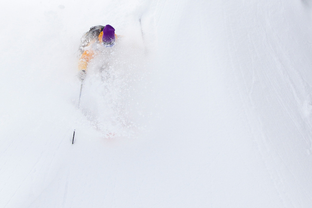 By late February, snow fell daily creating some of the deepest powder skiing of the year. - ©Ember Photography