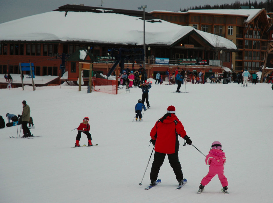 Families enjoy Schweitzer's atmosphere. Photo by Becky Lomax.