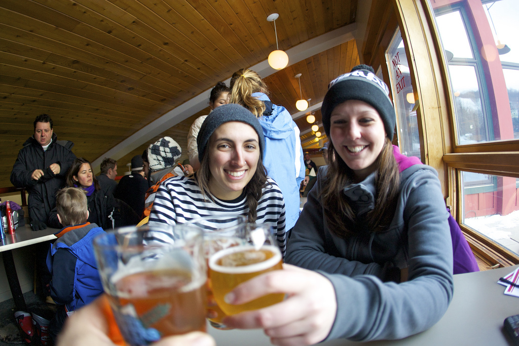 College students fit right in with the apres crowd. Photo Courtesy of Mount Snow.