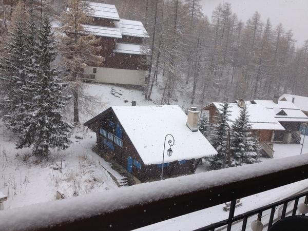Snowfall in Val d'Isere Nov. 6.