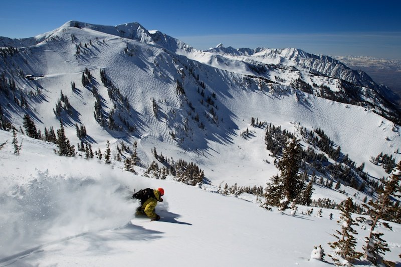 Utah's Wasatch Mountains are slated to get powder from this weekend's storm. Snowbird, one of Utah's premiere resorts, is a playground for advanced skiers looking for steep and deep terrain.