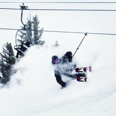 Chris Bentchetler reaping the benefits of Winter Storm Brutus at Mammoth Mountain. Photo:Chris Bentchetler/Mammoth Mountain/Instagram