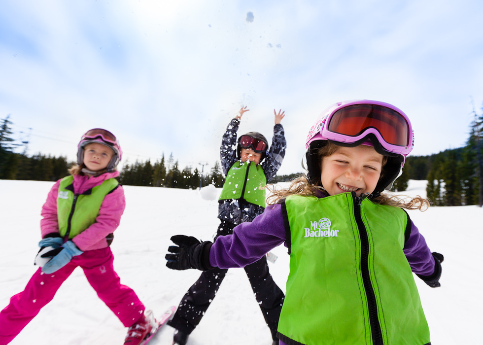 Kids at Mt. Bachelor. Photo by Tyler Roemer, courtesy of Mt. Bachelor.