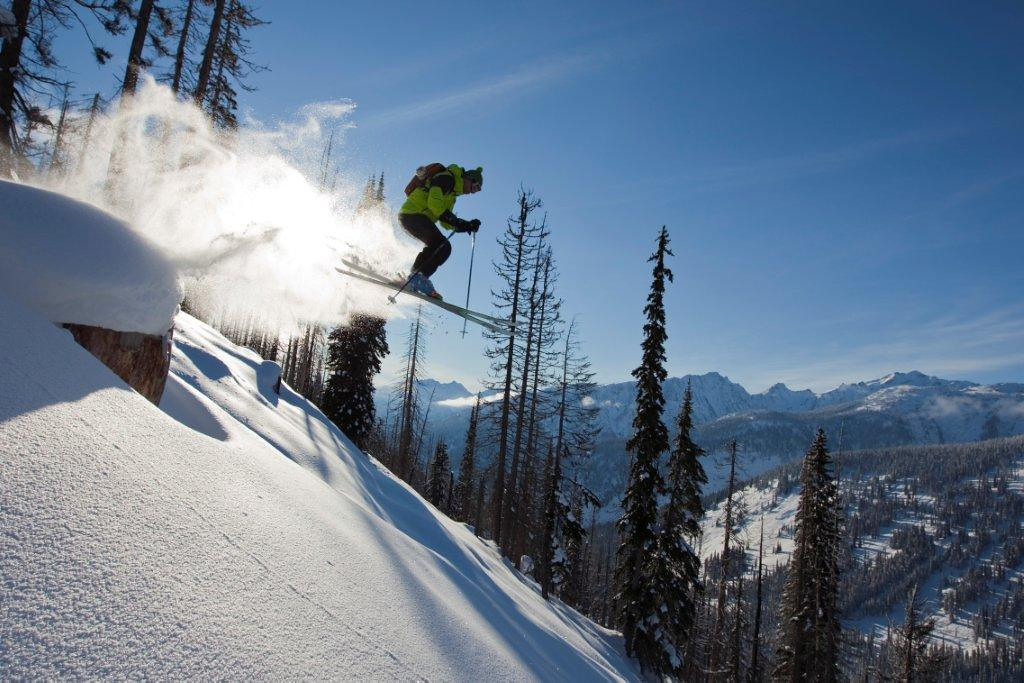 Catching air at CMH-Heli Skiing - ©CMH Heli-Skiing