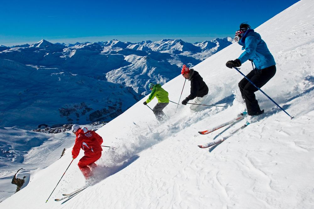 Skiing at Les Menuires, FRA - ©P. Royer - Les Menuires